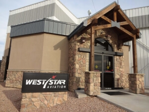 West Star Aviation Entrance Sign